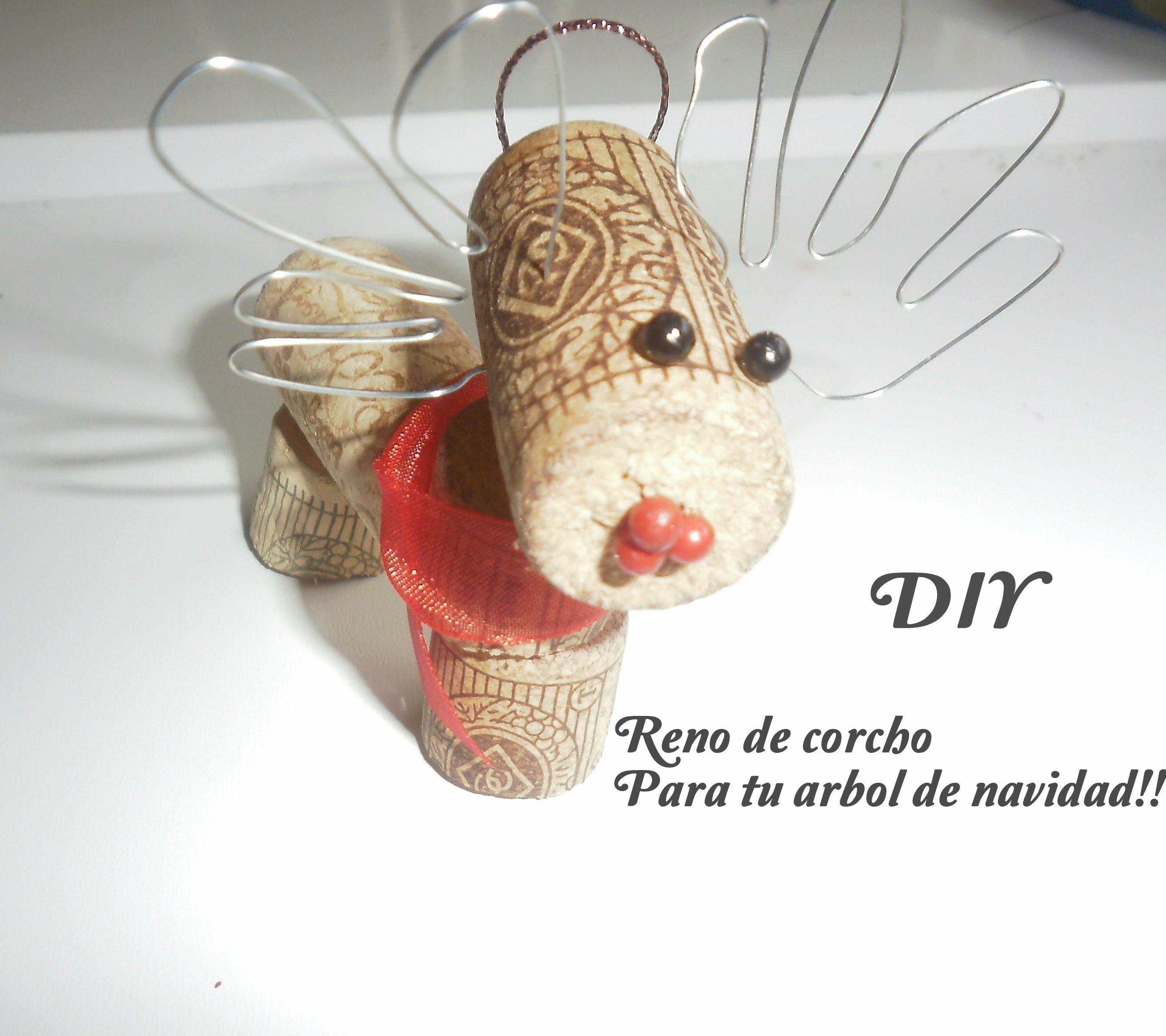 DIY:Adornos de navidad;Reno de corchos.DIY:Reindeer for your Christmas tree
