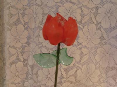 DIY Cómo hacer un precioso Tulipán con envases de refresco