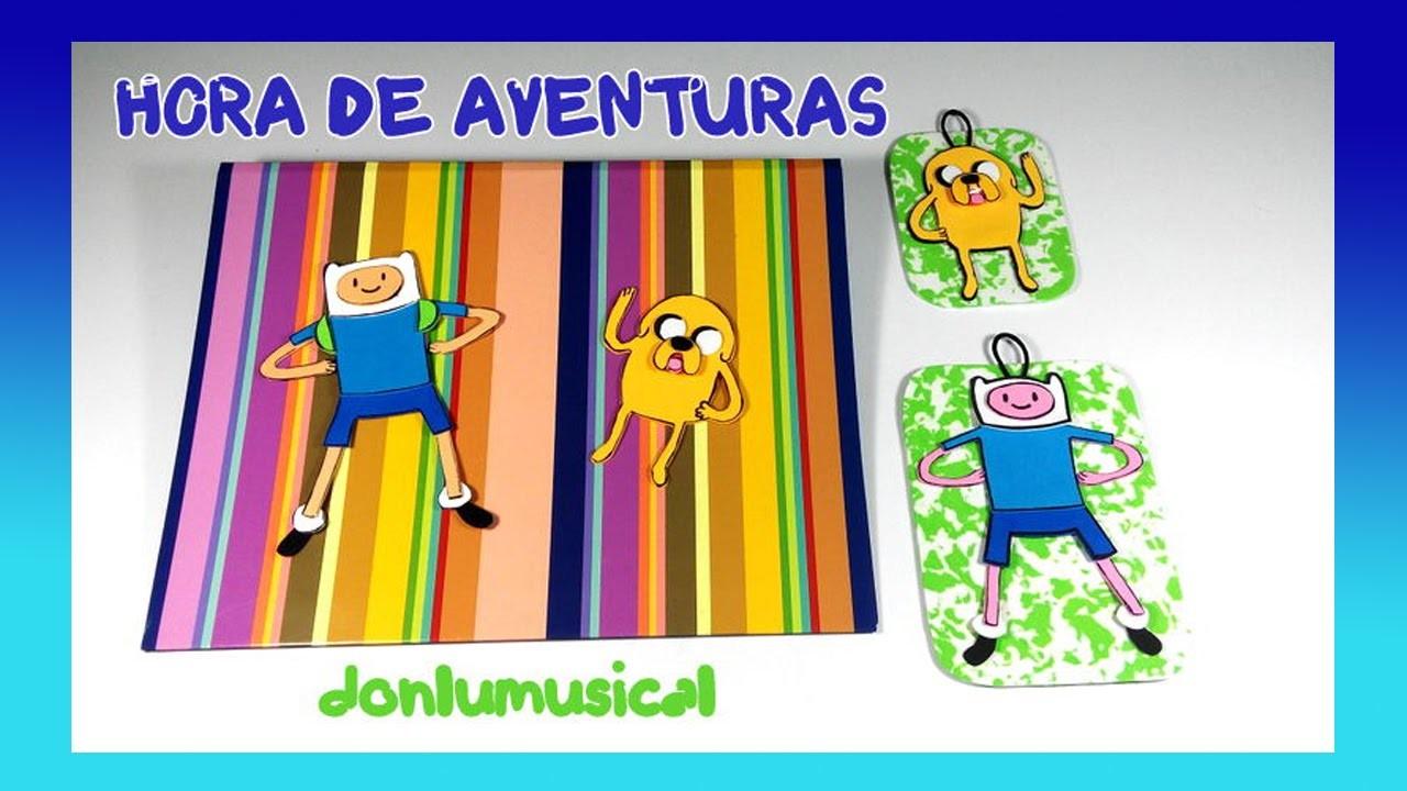 DIY Hora de Aventura Jake y Finn Manualidades Adventure Time.