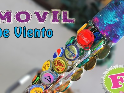 DIY: Movil de viento con CORCHOLATAS. Bottlecap Windchimes