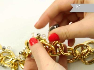 Fashion Topic Shiny Glass Necklace