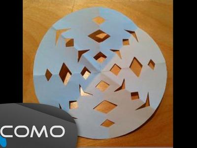 Hacer copos de nieve de origami
