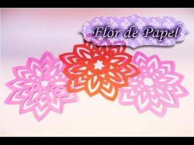 Kirigami Como hacer un Copo en forma de Flor