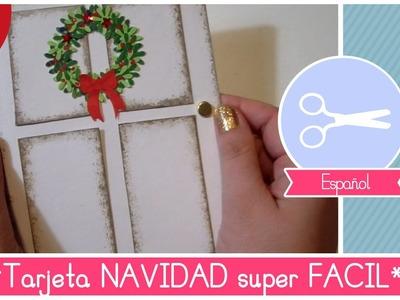 Manualidad de Navidad: Como hacer una TARJETA de Navidad DIY hermosa y super FACIL