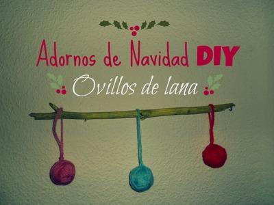 Manualidades: Adornos DIY de Navidad , ovillos de lana