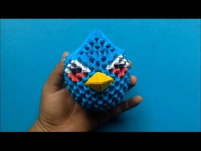 Origami 3D Angry birds (Azul)