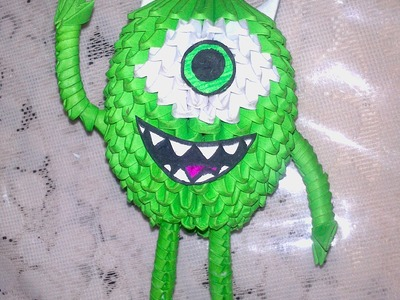 Origami 3D MIKE WAZOWSKI (link de tutorial en descripción)