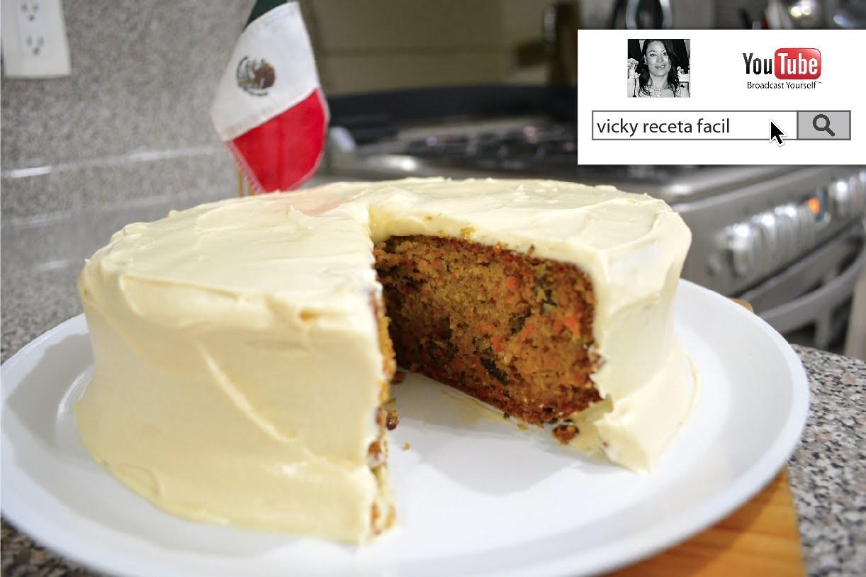 PASTEL DE ZANAHORIA | CARROT CAKE | BETUN DE QUESO PHILADELPHIA | Vicky Receta Facil