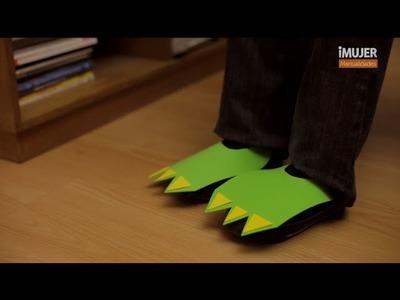 Pies de dinosaurio para niños | @iMujerHogar