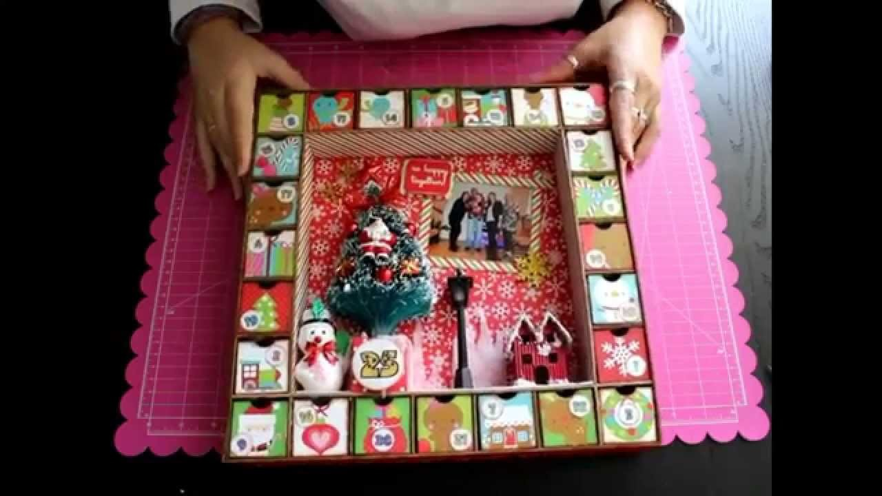 Presentación del Taller de Scrapbooking Calendario de adviento Bellaluna crafts