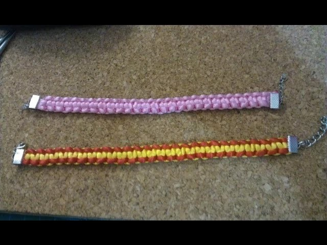 Pulsera facil de nudo plano. Flat knot bracelet