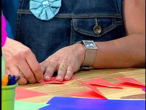 Rincón de Arte Infantil -- Flor de Origami con la tia Ceceu