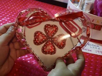 SAN VALENTIN:corazon de acetato con dulses+cartita ORIGINAL