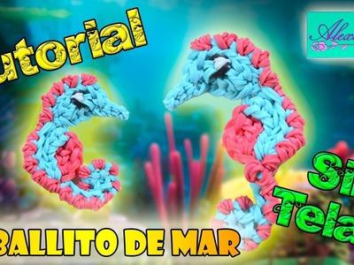 ♥ Tutorial: Caballito de Mar de gomitas (sin telar) ♥