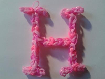 ♥ Tutorial: letra H hecha de gomitas (sin telar) ♥