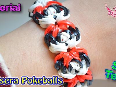 ♥ Tutorial: Pulsera Pokeballs (sin telar) ♥