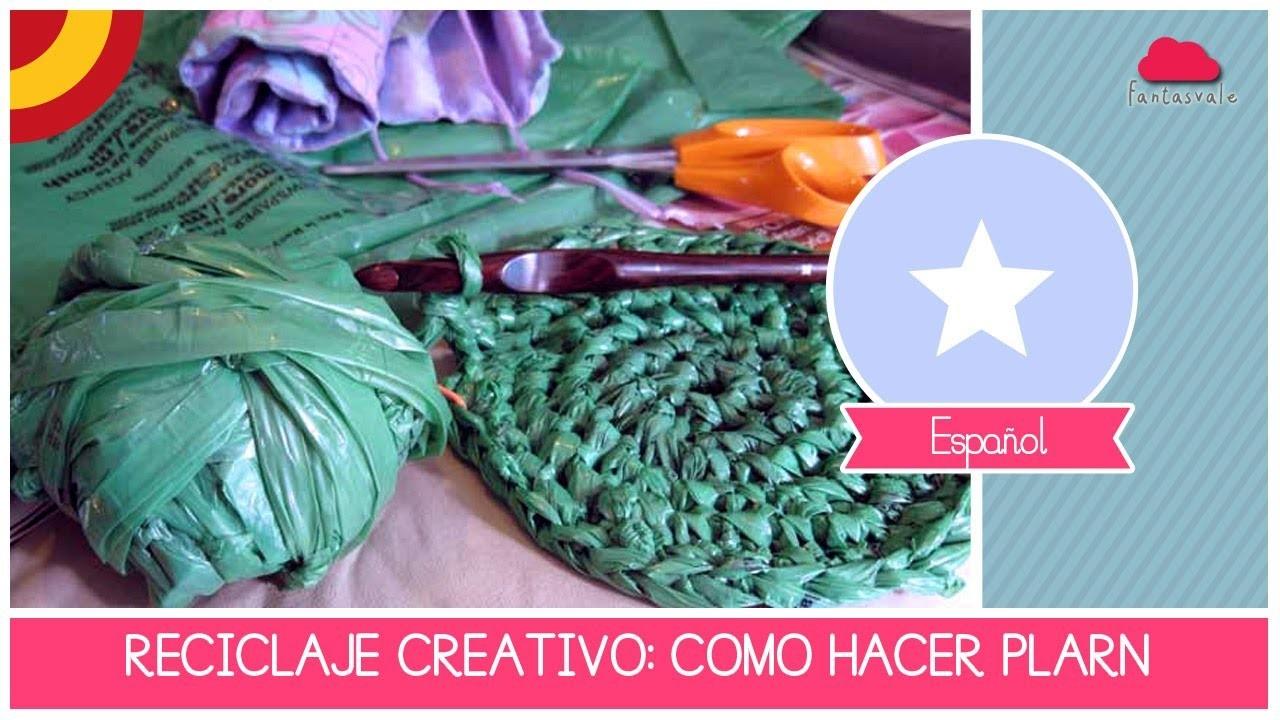 Tutorial RECICLAJE CREATIVO: como hacer PLARN el hilo con bolsas de plastico