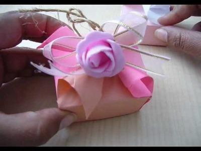 Cajita de regalo origami modular 2a parte