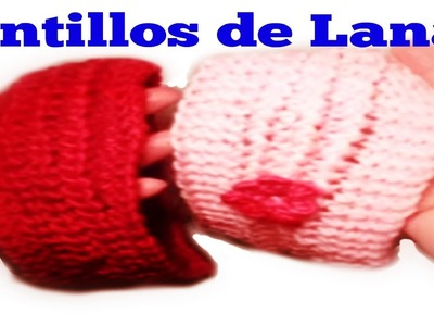 Cintillo o diadema de lana  tejido  con dos agujas.how to knit a headband with  two needles