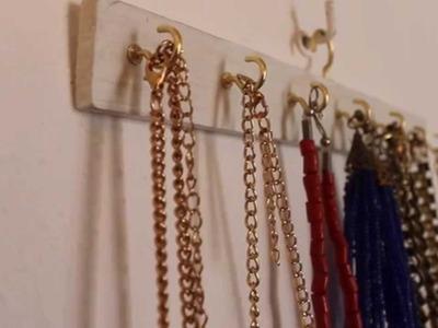 Colgador de collares DIY