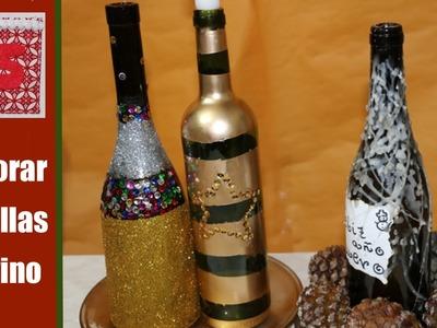 Cómo decorar botellas para hacer candelabros