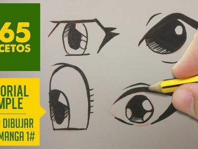 COMO DIBUJAR OJOS MANGA FACIL PASO A PASO KAWAII: Aprender a dibujar para niños y mayores