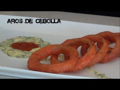 """Como Hacer Aros de Cebolla """"paso a paso"""" Onion Rings (TOQUE Y SAZÓN)"""
