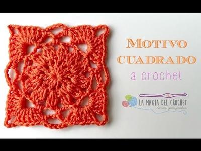 Como hacer motivo al crochet