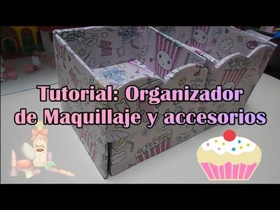 Como hacer Organizador Kawaii para Maquillaje y Accesorios