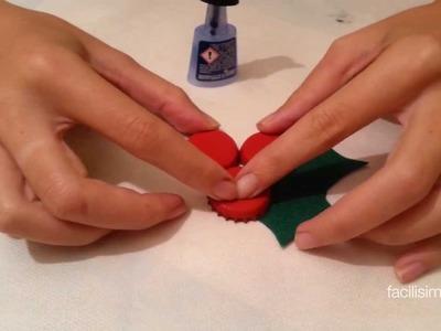 Cómo hacer un acebo con chapas | facilisimo.com