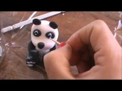 Como Hacer un Oso Panda en Porcelana Fria