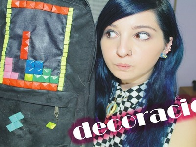 Decoración tetris para MOCHILA y como renovar un MALETÍN ✩ ¡fáciles! DIY