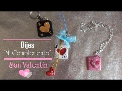 "♥Dijes ""Mi complemento"" SAN VALENTIN♥ | Porcelana fria"