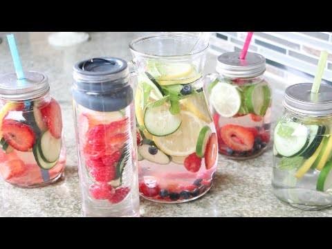 DIY Agua Con Frutas-  Saludable