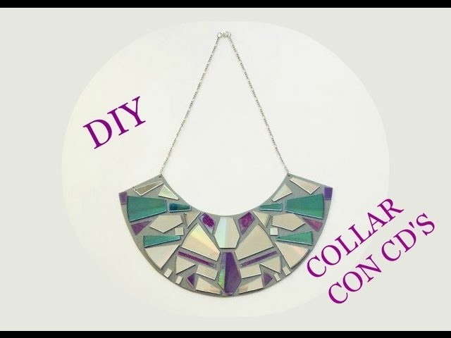 DIY collar con cd's
