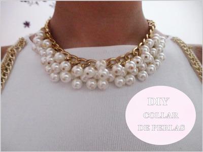 ✂ DIY collar de perlas fácil paso a paso.Nerea Iglesias.