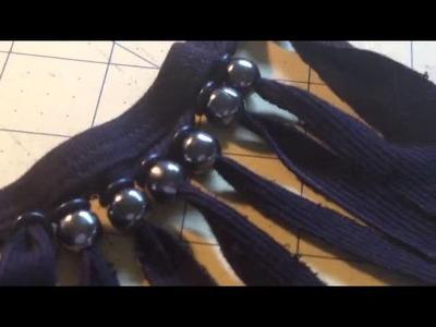 IN TV: ¡Transforma la vieja tshirt en collar!