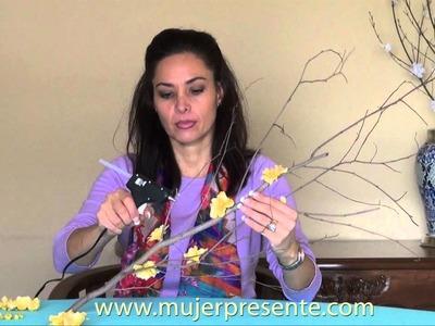 Manualidades con Beatriz Guajardo , Rama primaveral minimalista