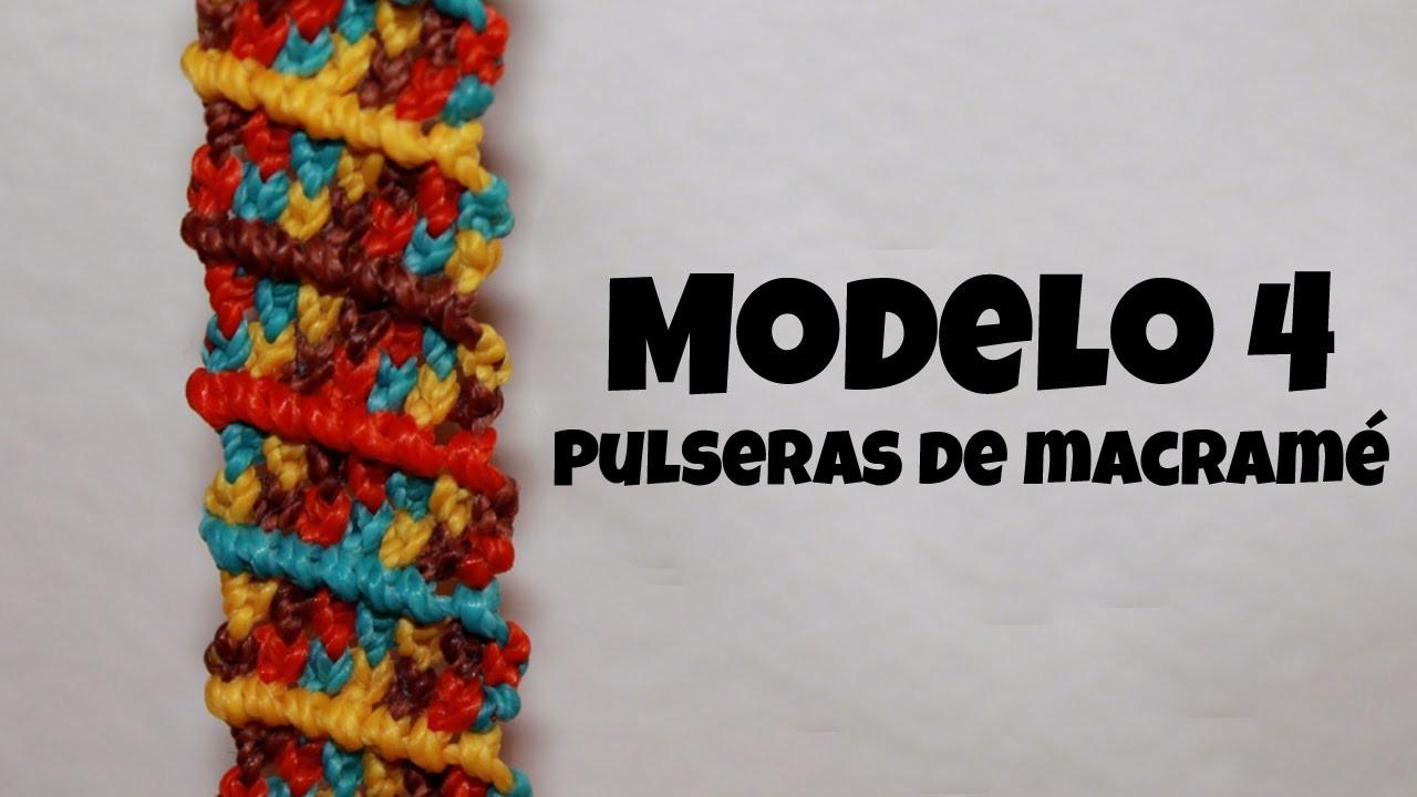 MODELO 4. Pulseras de macramé