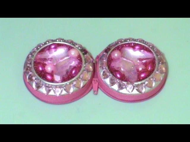 Recícla!! : Monedero.Porta Aretes+Espejo Estilo Princesa