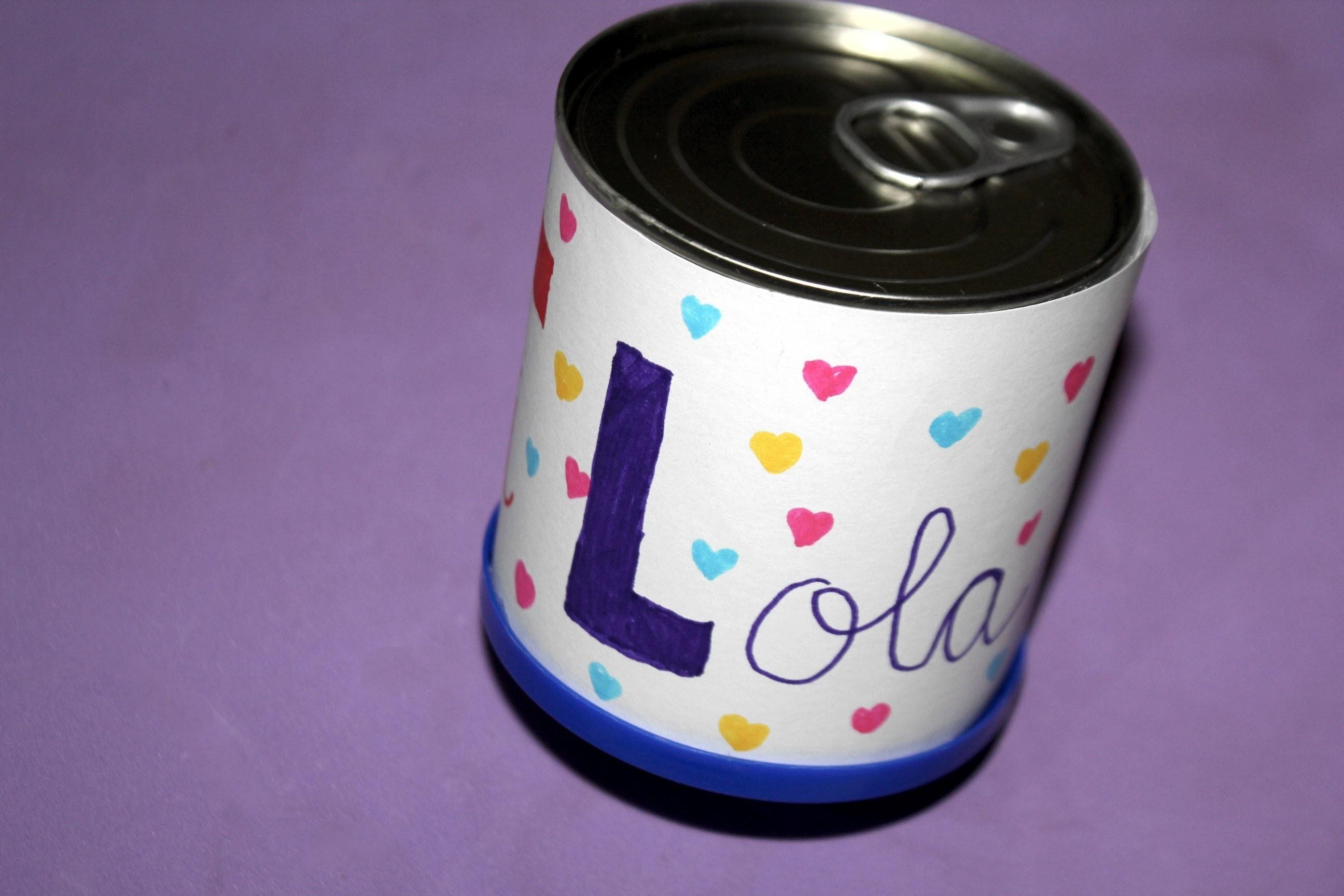 Reciclaje: Lata para meter regalos. Gift can