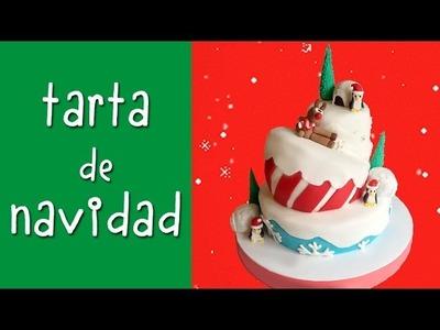 Tarta de navidad. Aprende a decorar tartas con fondant.