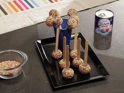 Trufas de colores con leche condensada La Lechera - Recetas rápidas Nestlé