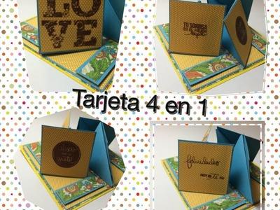 Tutorial tarjeta felicitacion, aniversario, cumpleaños, dia del padre, dia de la madre