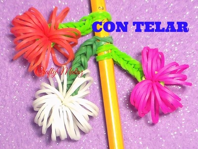 Tutoriales:Cómo Hacer Adornos Para Lápices. Rainbow Loom Pencil Topper Tutorial