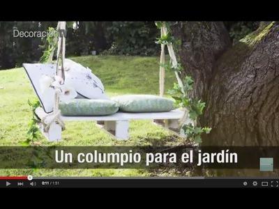 Un columpio romántico para el jardín. Manualidades