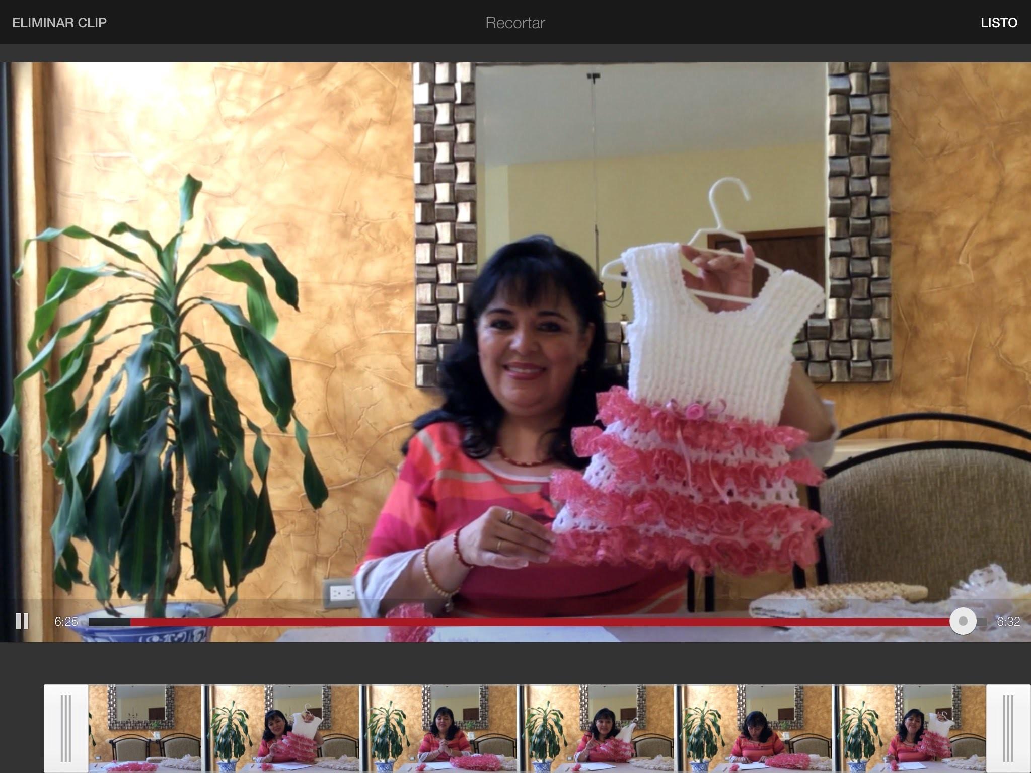 Vestidito de red tule - tejido en gancho - Tejiendo con Laura Cepeda