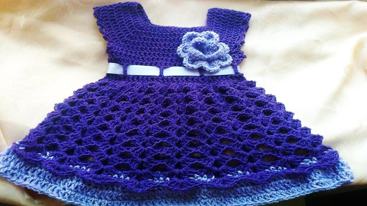 Vestiditos de bebe Tejidos en crochet o Ganchillo ( ideas y diseños )