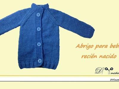 Abrigo o chaqueta para bebé recién nacido