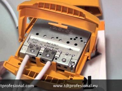 Amplificador de mástil y fuente de alimentación